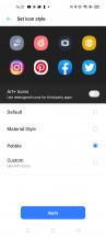 Customizing icons - Realme 7 review
