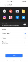 Customizing system icons - Realme X50 Pro 5G review