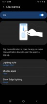 Edge screen, edge panels and edge lighting - Samsung Galaxy A31 review