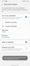 Dark mode - Samsung Galaxy A31 review