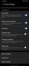 Camera settings - Samsung Galaxy A31 review