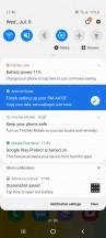 Notification shade - Samsung Galaxy A41 review