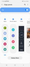 Edge screen, edge panels and edge lighting - Samsung Galaxy A41 review