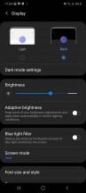 Dark mode - Samsung Galaxy A41 review