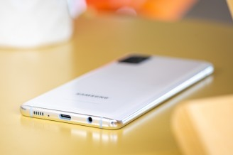 The usual accoutrements on the bottom - Samsung Galaxy A51 5G review