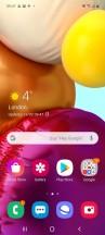 Homescreen - Samsung Galaxy A71 review
