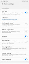 Camera UI: More settings - Samsung Galaxy Note20 Ultra 5G review