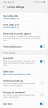 Camera main settings - Samsung Galaxy S20+ review