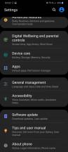 Settings - Samsung Galaxy S20 Ultra long-term review