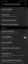Biometrics and security settings - Samsung Galaxy S20 Ultra Long Term review