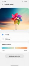 Color profile settings - Samsung Galaxy S20 review