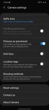 Camera main settings - Samsung Galaxy S20 review