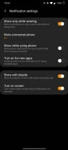 Notification settings - Samsung Galaxy Watch3 review