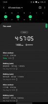 Samsung Health app home screen and weekly activity summary - Samsung Galaxy Watch3 review