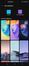 Themes and wallpaper settings - Tecno Camon 16 Premier review