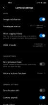 Camera settings menu - Xiaomi Mi 10 5g review