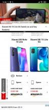 Split screen - Xiaomi Mi 10 Lite 5G review
