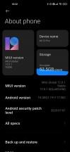 Current software on our unit - Xiaomi Mi 10 Pro long-term review