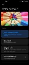 Color settings - Xiaomi Mi 10 Pro long-term review