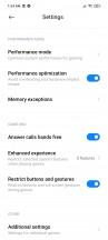Game Turbo options - Xiaomi Mi 10T Lite 5G review