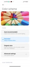 Display settings and presets - Xiaomi Mi 10T Pro 5G review