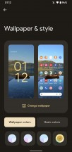 Wallpaper & style section - Android 12 review