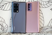 Huawei Mate X2 next to Samsung Galaxy Z Fold2 - Huawei Mate X2 review