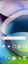 Home screen, recent apps, notification shade, general settings menu - Motorola Moto G 5G review