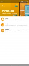 UI customization options and Moto Display features - Motorola Moto G 5G review