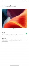 Display settings - Oppo Reno6 5G review