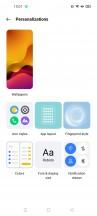 Customization options - Realme 8 Pro review