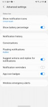 Notifications and quick toggles - Samsung Galaxy A32 review