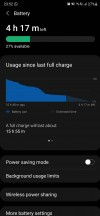 Battery life (usage since last charge/screen time per calendar day) - Samsung Galaxy Note20 Ultra long-term review