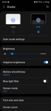 Display settings - Samsung Galaxy Note20 Ultra long-term review