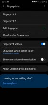 Biometrics settings - Samsung Galaxy Note20 Ultra long-term review