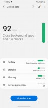 Battery settings - Samsung Galaxy S21+ 5G review