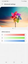 Display settings - Samsung Galaxy S21 Ultra review