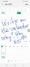 Write on Calendar - Samsung Galaxy S21 Ultra review