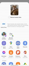 Share options pinning - Samsung Galaxy S21 Ultra review