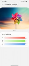 Display settings - Samsung Galaxy S21 5G review