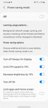 Battery settings - Samsung Galaxy S21 5G review