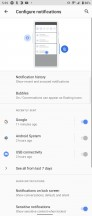 Notification settings - Sony Xperia 1 III review