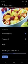 Color settings - vivo V21 5G review