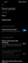 Biometrics settings - Xiaomi Mi 11 long-term review