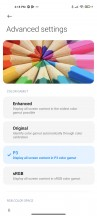 Display settings - Xiaomi Mi 11 Ultra review