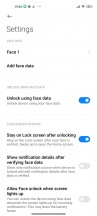 Security options - Xiaomi Mi 11 review