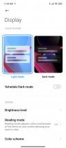 Display settings - Xiaomi Redmi Note 10 review