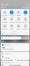 New and old notification shade and Control centre - Xiaomi Redmi Note 8 2021 review