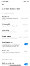 Additional settings - Xiaomi Redmi Note 8 2021 review