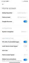 Home screen and navigation options - Xiaomi Redmi Note 8 2021 review